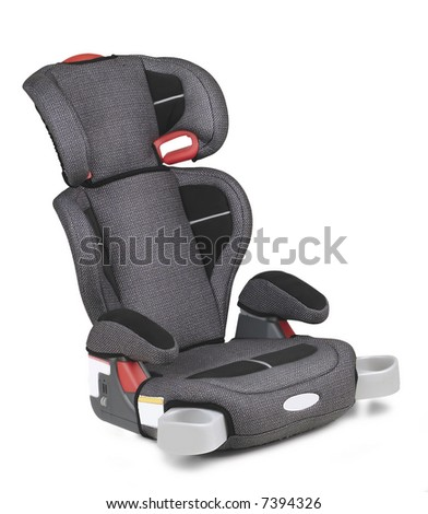 a car seat isolated in white background - stock photo