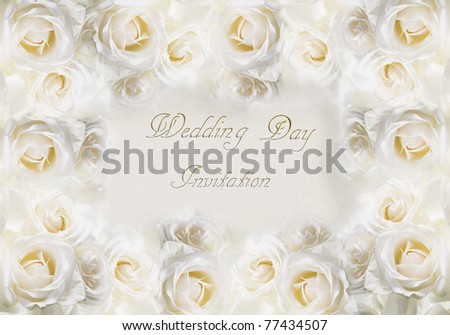 A card for a wedding invitation. Art illustration. - stock photo