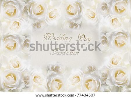 A card for a wedding invitation. Art illustration. - stock photo