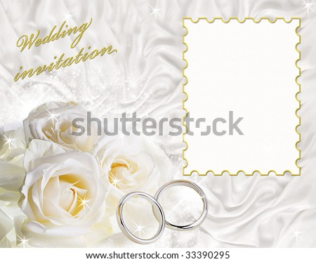 A card for a wedding invitation with a frame for sample text. - stock photo