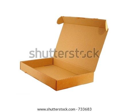 A cardboard box 02 (Misc. Objects 05) - stock photo