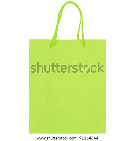 A carrier or shopping bag for goods - isolated over white background