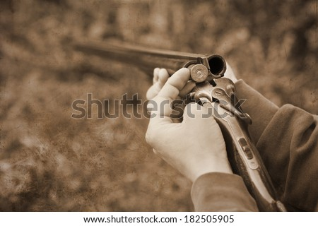 A cartridge loaded and ready  - stock photo