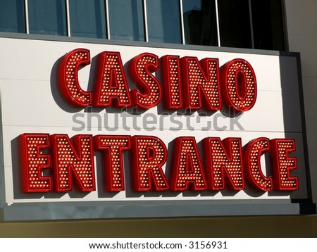 A casino entrance sign in Las Vegas, Nevada. - stock photo