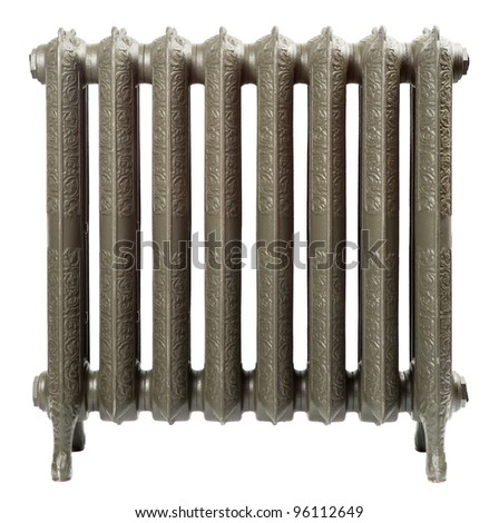 A cast iron radiator for home - stock photo