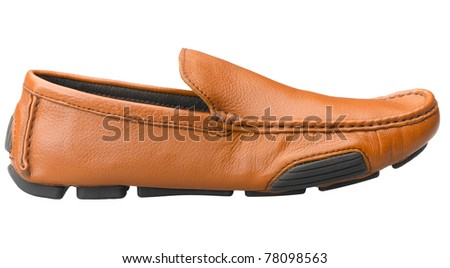 A casual leather man's shoe for outdoor activities in relaxing day
