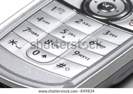 a cell phone key pad