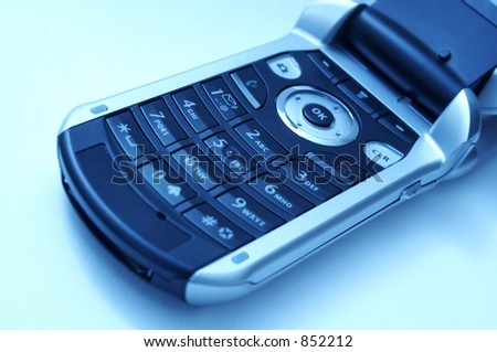 A cell phone key pad. - stock photo