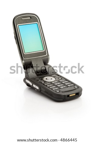 A cellular phone isolated on white