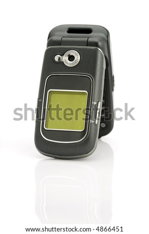 A cellular phone with a digital camera - stock photo
