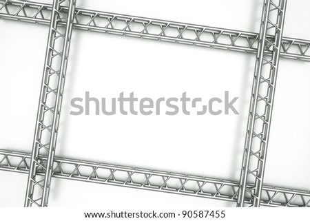 a center stage with metal frame, put your object in the center - stock photo