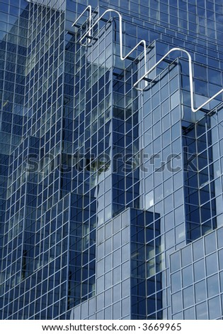 A central London office building. - stock photo