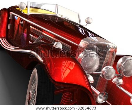 Cg Rendering Classic Car 3d Model Stock Illustration 32854693