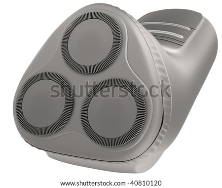 A CG rendering of an electric shaver 3d model