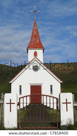 A charming little church in Vik, southern Iceland.
