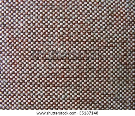a checkered part of fabric texture - stock photo