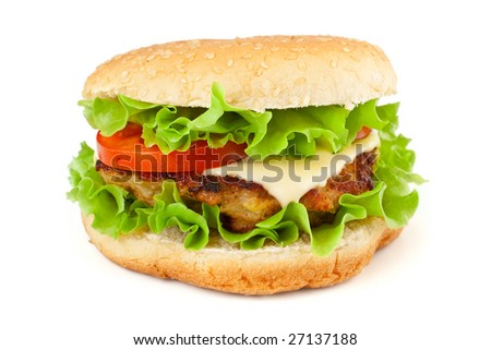 a cheeseburger isolated