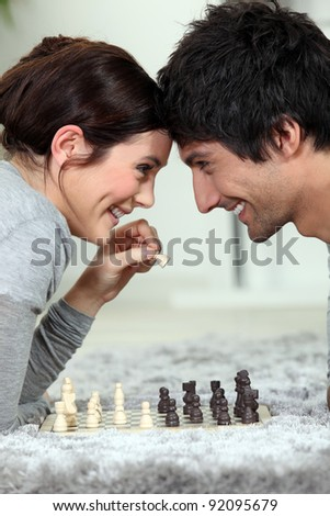 A chess dual - stock photo