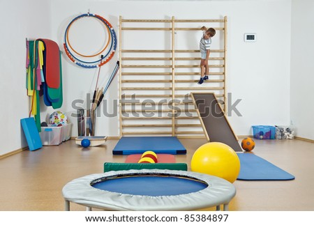 A child in the gym - stock photo