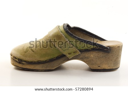 A children's clog - stock photo