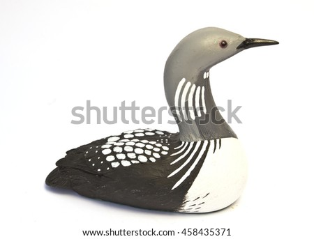 A China Porcelain Bird Duck Isolated  - stock photo