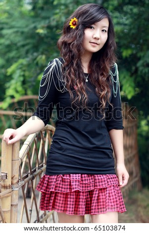Chinese Girl Wearing Short Skirt Stock Photo 65103874 - Shutterstock