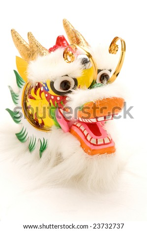 A Chinese New Year Dragon Decoration - stock photo