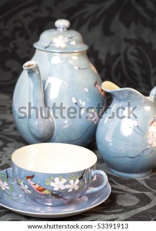 A chinese tea  set - stock photo