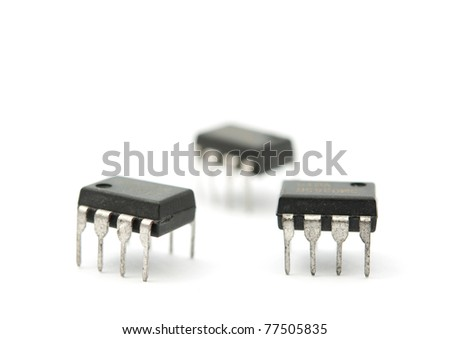 A chip on a white background - stock photo