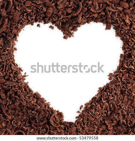 a chocolate in a shape of heart - stock photo