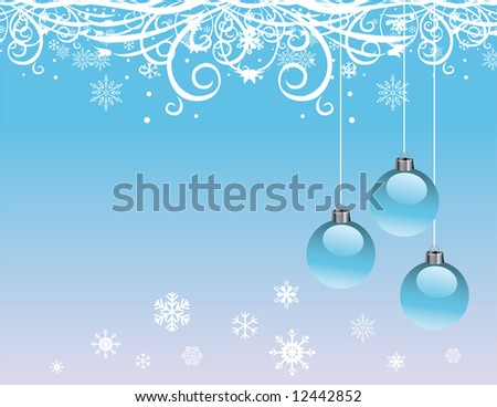 A Christmas background in blue color.