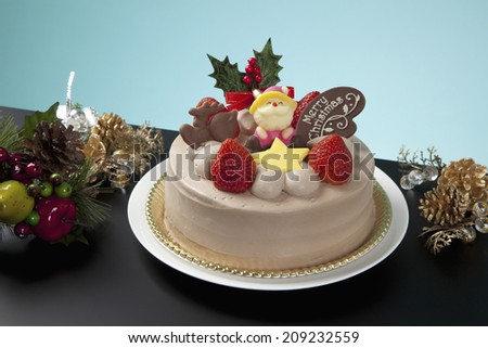 A Christmas Chocolate Fresh Cake