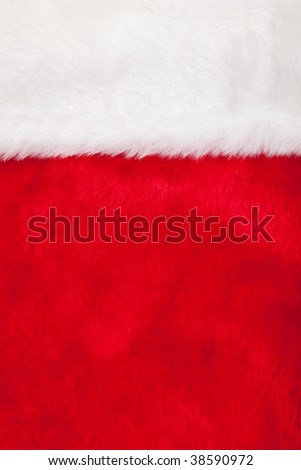 A christmas stocking as a full background - stock photo