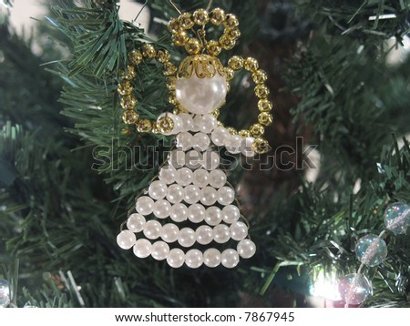 decorated christmas trees with beads