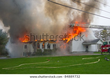 A Church burning - stock photo