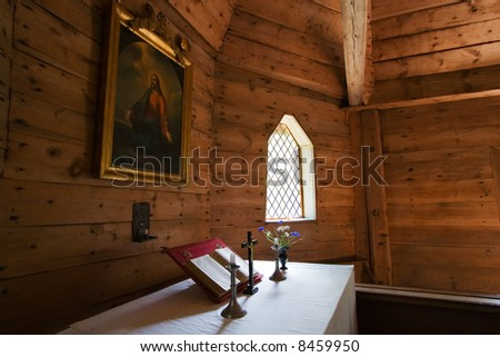 a church from inside in the country