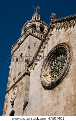 A Church in the Croatian city of Korcula, with it's tower