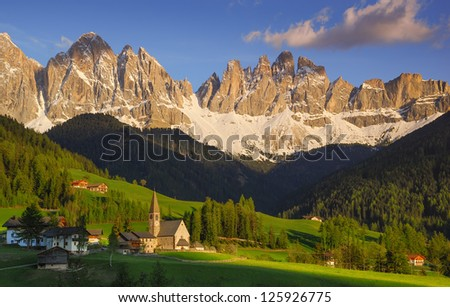 A church on a Landscape - stock photo