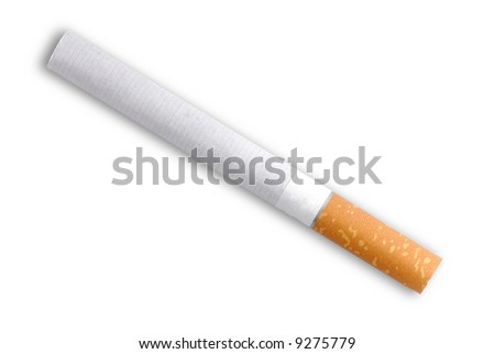 A cigarette isolated on white background