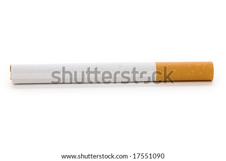 A Cigarette with white background