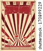 A circus vintage poster for your advertising - stock photo