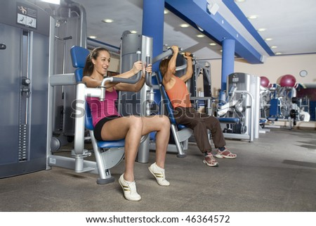 A class in a fitness centre - stock photo
