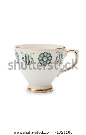 A classic china cup - stock photo