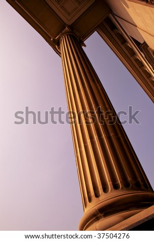 A Classic Column Architecture, London UK - stock photo