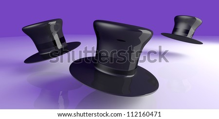 A classic Cylinder Hat. 3D rendered Illustration. - stock photo