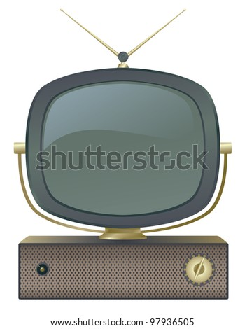A classic retro television set. - stock photo
