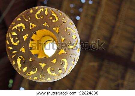 A Clay Ceramic Lamp Shade