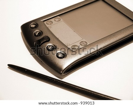 A clean shot of a pda. - stock photo