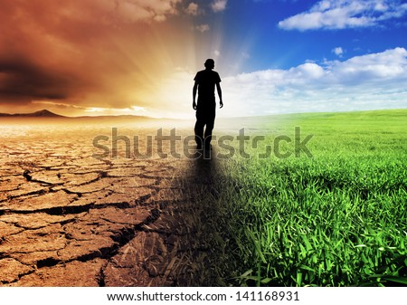 A Climate Change Concept Image - stock photo