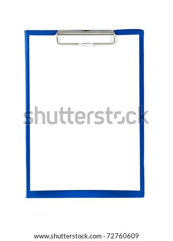 A clipboard isolated against a white background